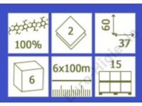 Prémium kétrétegű fehér orvosi papirlepedő 59x31 (50m)