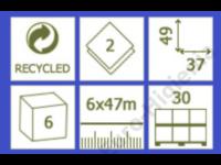 basic kétrétegű törtfehér orvosi papírlepedő 48x31 (46,5m)