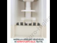 Szenzoros falra szerelhető kézfertőtlenítő adagoló tálcával