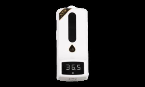 Szenzoros falra szerelhető kézfertőtlenítő adagoló infravörös hőmérővel