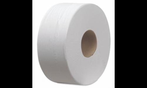 Kétrétegű fehér toalettpapír, 18 cm